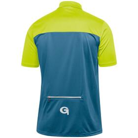 Gonso Ebro Fietsshirt korte mouwen Heren geel/petrol